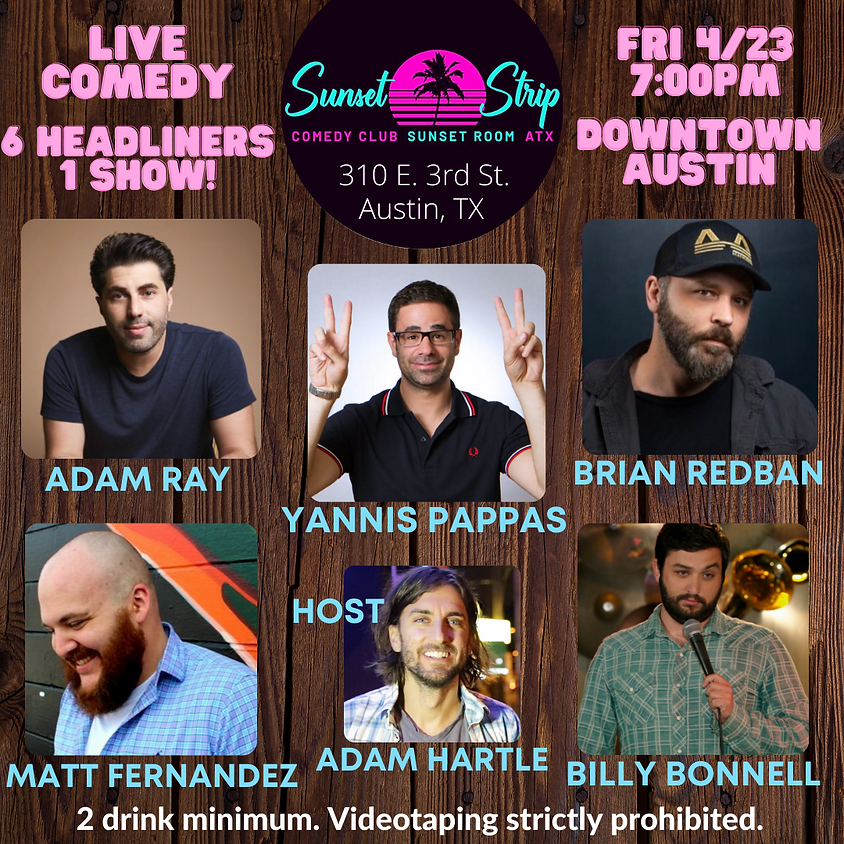Friday, April 23rd comedy showcase 7:00pm