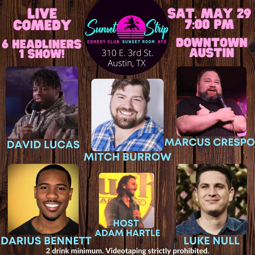Saturday, May 29th comedy showcase 7:00pm