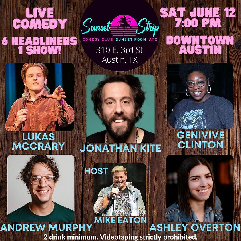 Saturday, June 12th comedy showcase 7:00pm