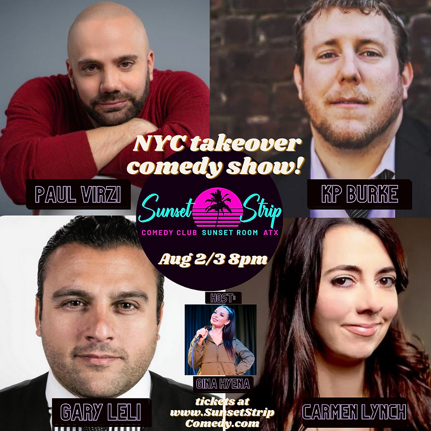 Monday, Aug. 2nd NYC Takeover Comedy Showcase