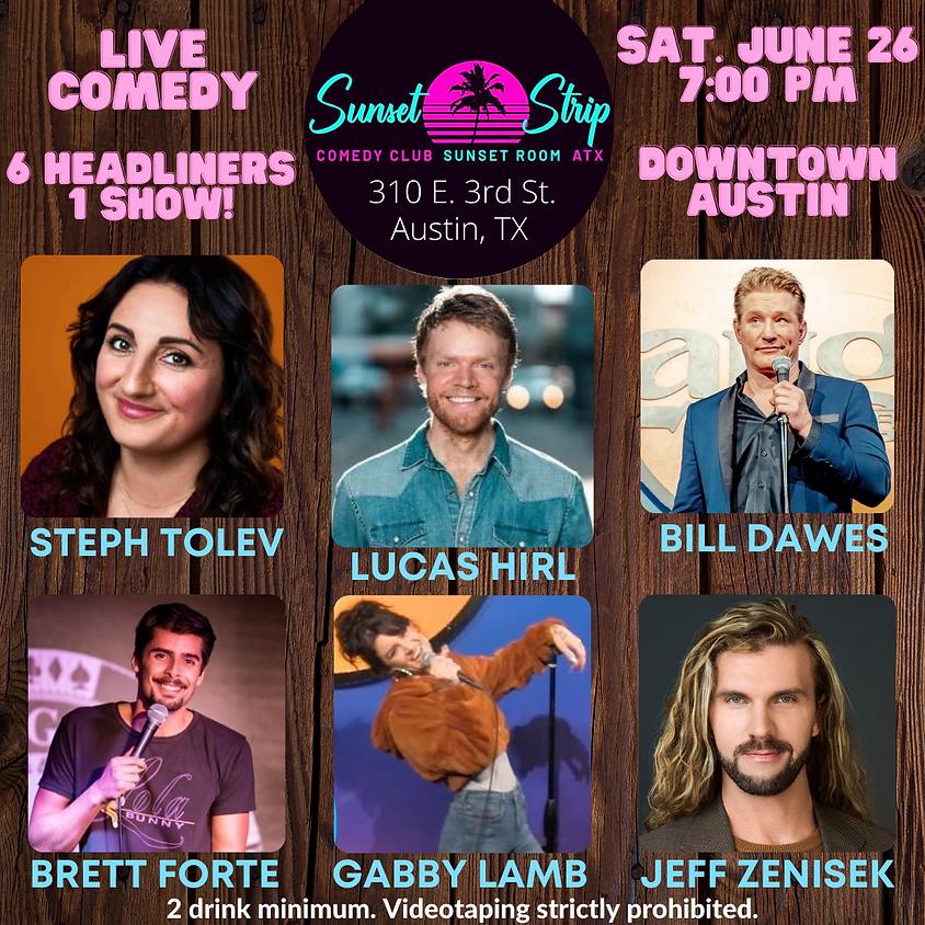 Saturday, June 26th comedy showcase 7:00pm