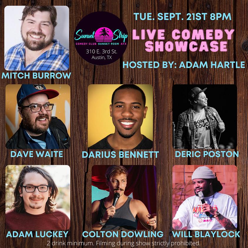 Tuesday September 21st 8pm Live Comedy Showcase
