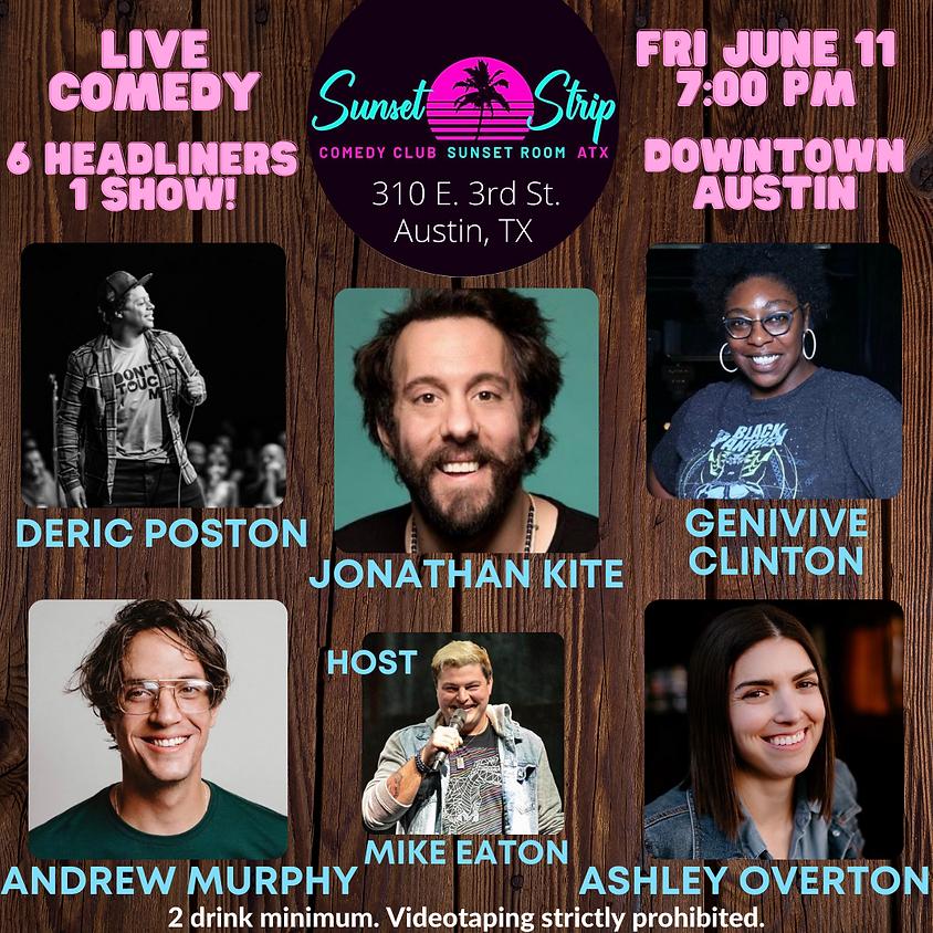 Friday, June 11th comedy showcase 7:00pm