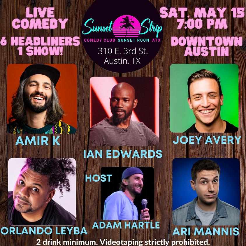 Saturday May 15th 7:00pm Comedy Showcase
