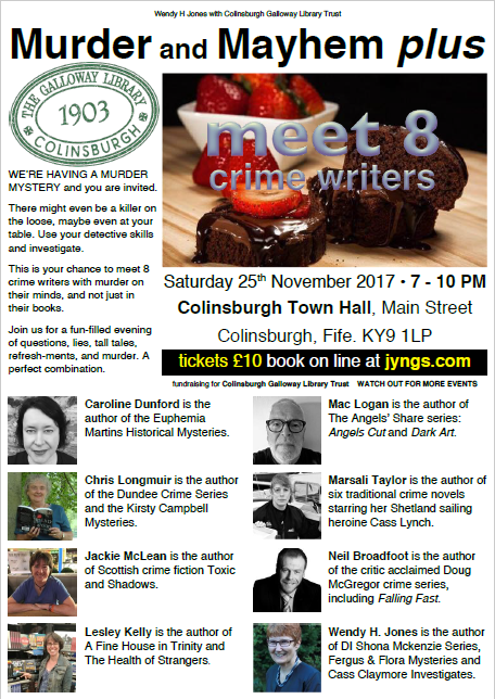 Crime fiction event in Colinsburgh, Fife