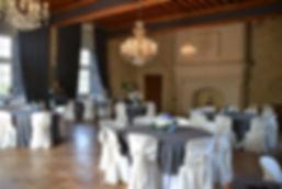 Salle de réception du château de la Dame Blanche à Grignol