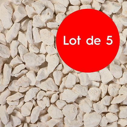 Gravillons blanc calcaire - lot de 5