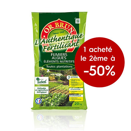 Fertilisant OR BRUN authentique lot de 2