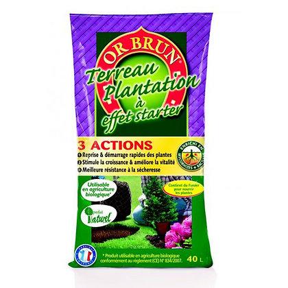 Terreau plantation 3 action