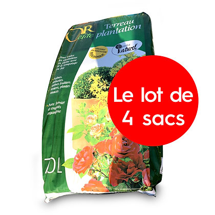 "Terreau plantation ""Or élite"" - lot de 4 sacs"