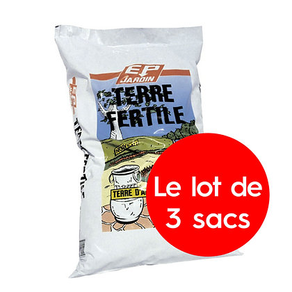 Terre fertile - lot de 3 sacs