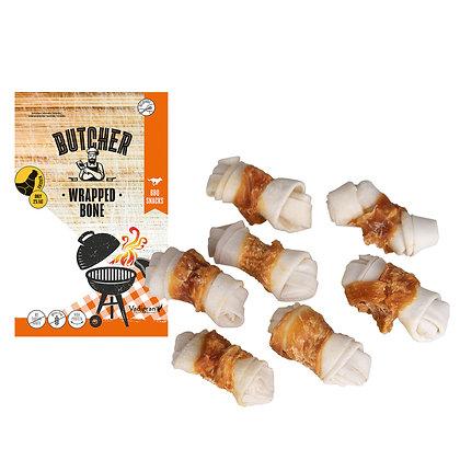 Chicken wrapped bone