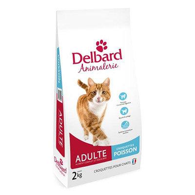 Delbard - chat adulte - poisson - sac de 2 et 5kg