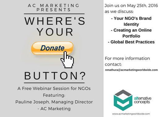 Where's Your Donate Button? – A Free Webinar Session for NGOs
