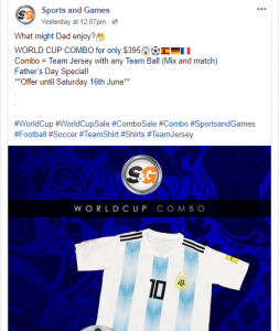 World Cup Sports and Games