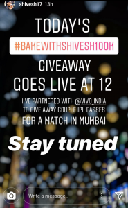 Instagram Story- Giveaway