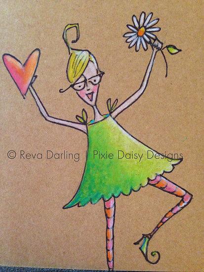 GIRL-015_Happy girl_heart_daisy