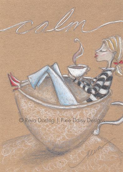 GIRL-025_ Calm girl_coffee cup