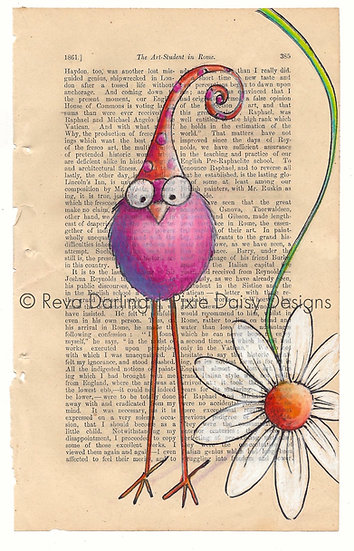 CBRD-002_Pink_polka dot hat_daisy