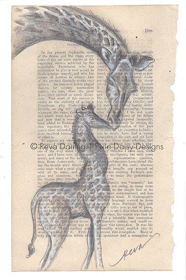ANI-015_Giraffe mama and baby standing