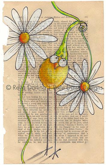 CBRD-011_Yellow_green pdot hat_daisy