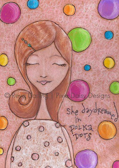 GIRL-002_She daydreamed in Polka Dots