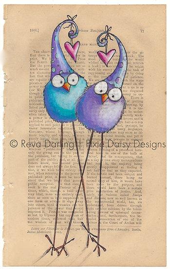 CBRD-007_Two cadoodles_hearts_aqua_purple