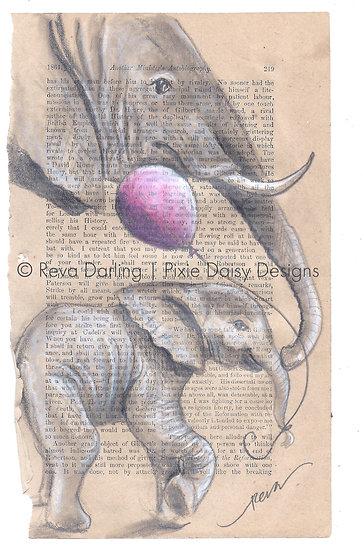 ANI-059_Carry your heart_Mama elephant_balloon_baby