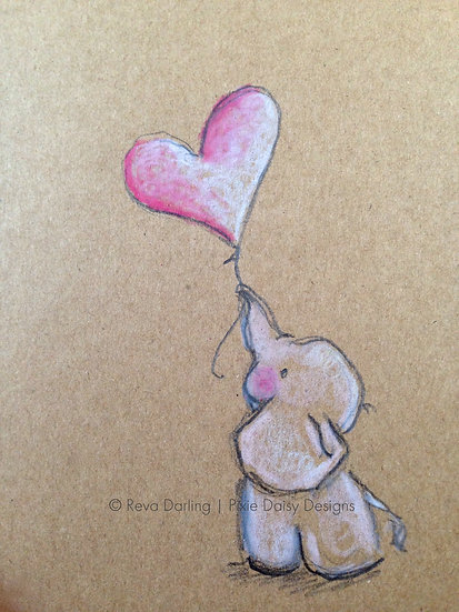 EDU-015_Baby elephant with balloon