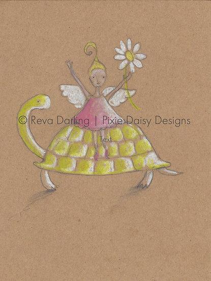ANI-014_Fairy on turtle_daisy