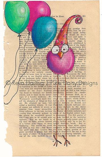 CBRD-005_Balloons_pink_orange pdot hat