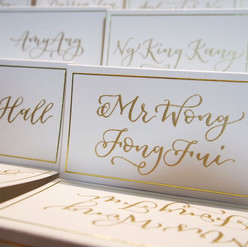 Personalized Place Cards for Raffles Hotel Gala