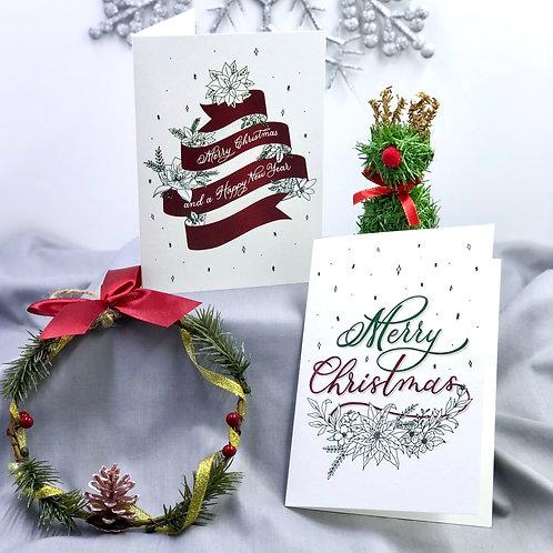 Christmas Greeting Cards (Ribbon series)