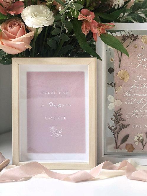 Baby Girl Milestone Cards