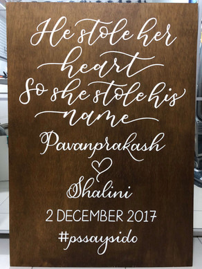 Wooden Wedding Quote & Welcome Sign
