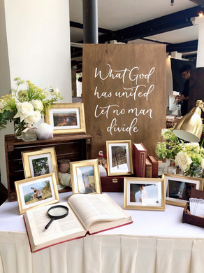 Wooden Wedding Quote Sign