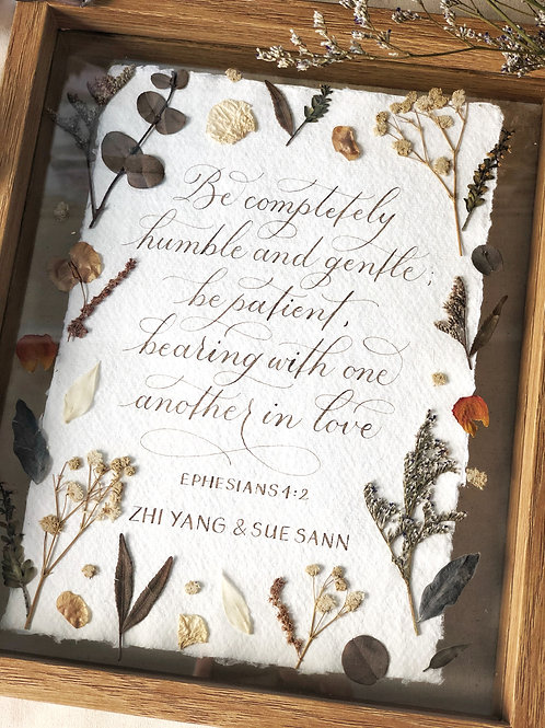 Calligraphy Floral Frame (Customised)