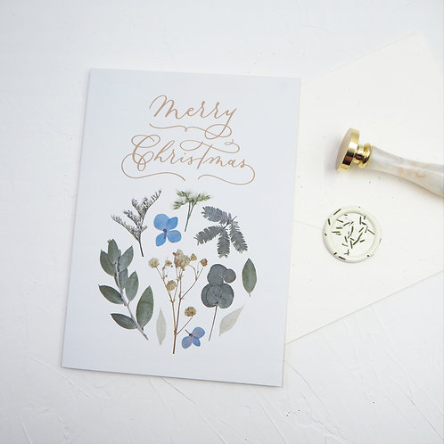Christmas Greeting Card #3 (Floral series) – Merry Christmas