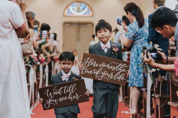 Wedding Page Boy Signs