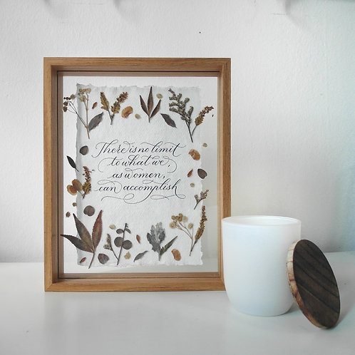 "(Ready-made) Calligraphy Frame Quote - ""There is no limit to what we, ..."""