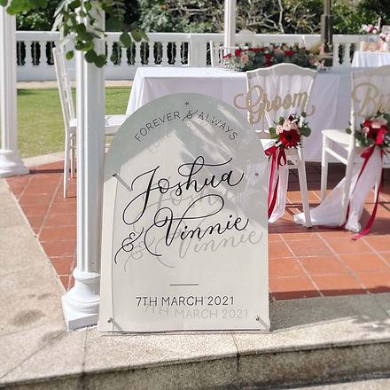 Acrylic Arch Wedding Sign