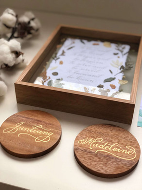 Custom Personalized Wooden Coasters