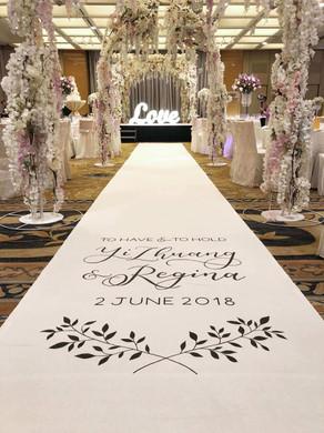 Wedding Calligraphy Aisle