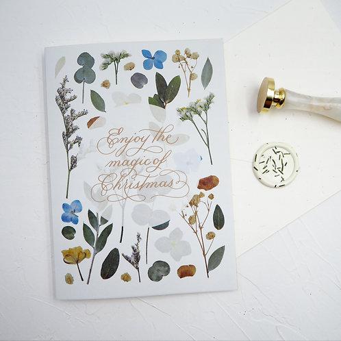 Christmas Greeting Card #1 (Floral series) – Enjoy the magic of Christmas