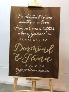 Wooden Custom Wedding Quote & Welcome Sign