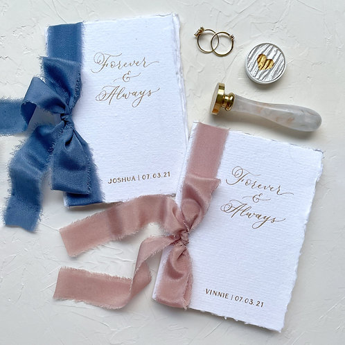 Wedding Vow Booklets - Forever & Always