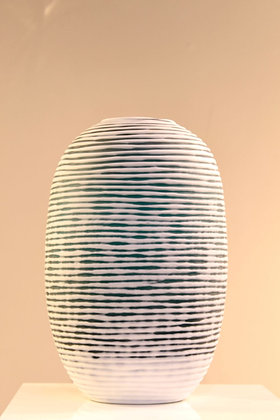 Jarrón Cristal Texturizado