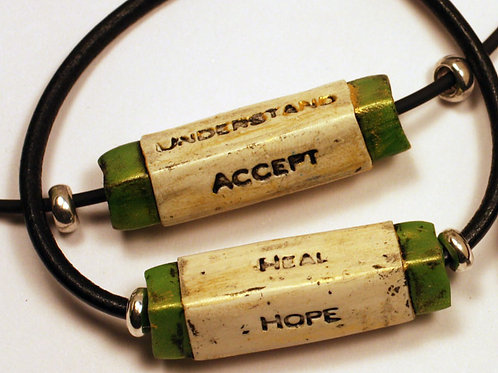 """Necklace """"Hope, Heal, Accept, Understand"""""""