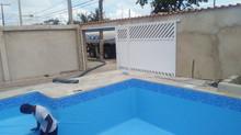Piscina com 30 mil litros em Itanhaém.