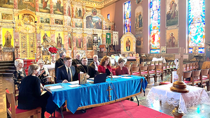 His Holiness Patriarch Philaret Convened a ZOOM Video Conference Meeting.